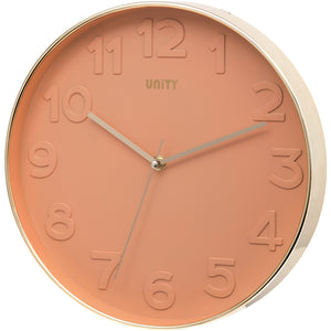 Bergen Pink Raised Dial Wall Clock