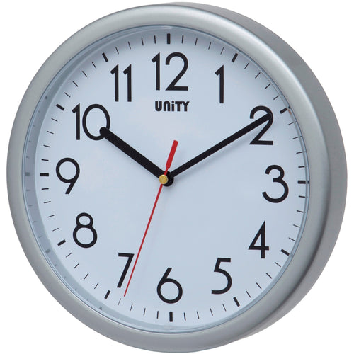 Hastings Silver Wall Clock