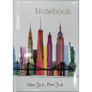 New York Skyline Scene Notebook A5