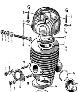 Cylinder Head - Original Sachs part