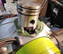 Load image into Gallery viewer, Photo shows new piston fitted ready for cylinder