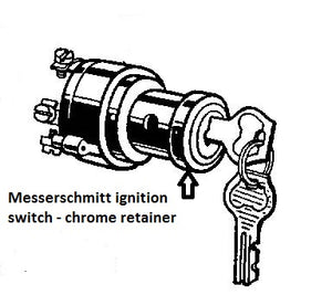 Ignition Switch - Chrome retainer