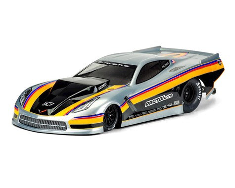 Chevrolet Corvette C7 1/10 Pro-Mod Short Course Drag Car Body (Clear)