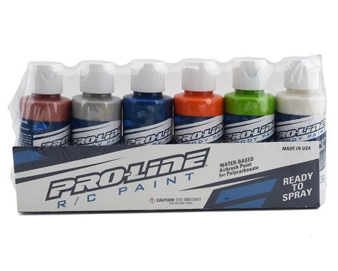 RC Body Airbrush Paint Metallic/Pearl Color Set (6)