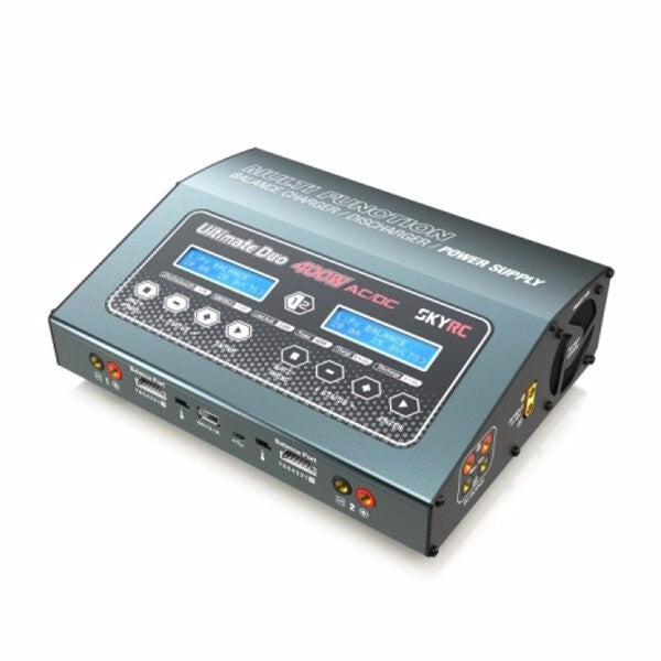 Ultimate Duo 400w Balance Charger/Discharger/Power Supply 1-7s 20a