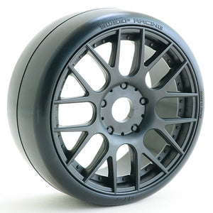1:8 GT Racing slick pre-glued tires 45deg with EVO16