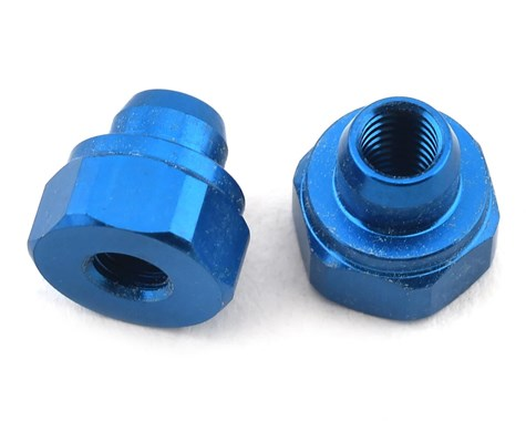 RC10B74 Aluminum Battery Strap Nut (Blue) (2)
