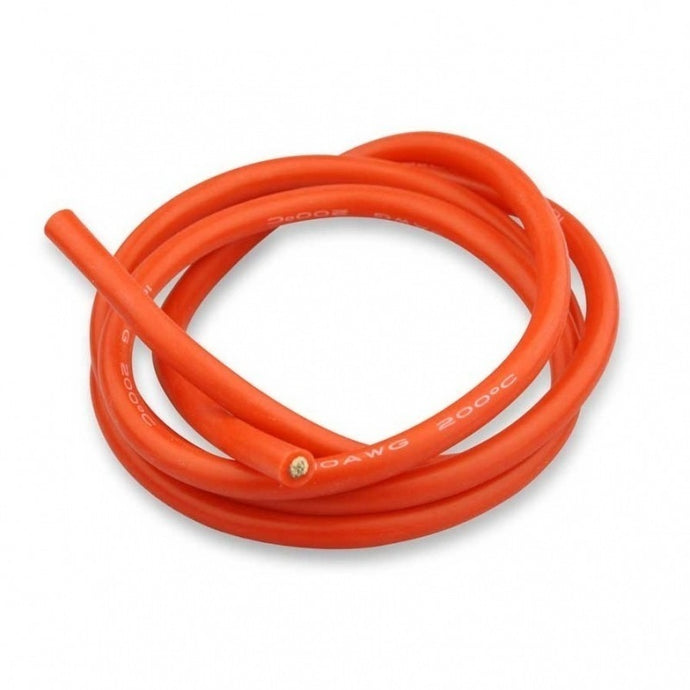 Silicon Wire Red 12AWG 1M