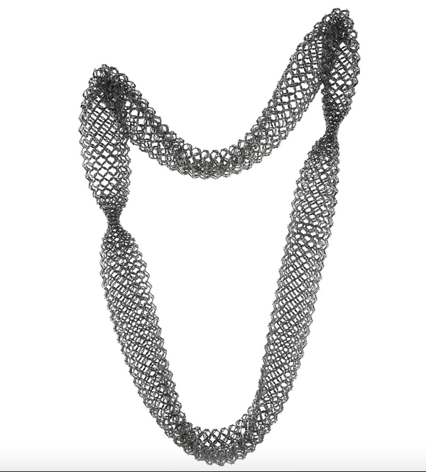 Joanne Thompson - Tallach Oxidized Chain Maille Tube Necklace