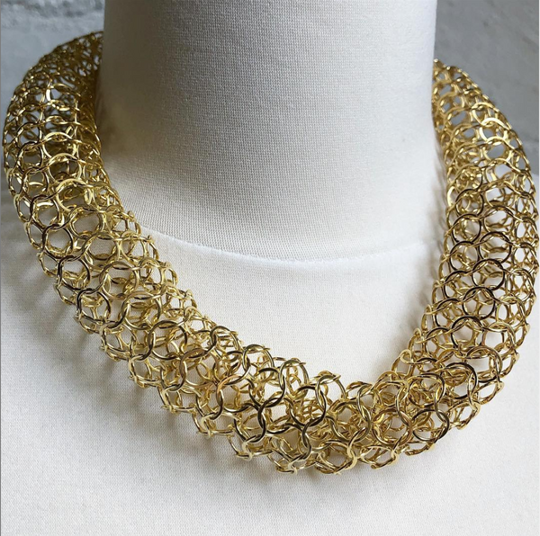 Joanne Thompson - Jarvie Chain Maille Vermeil Necklace