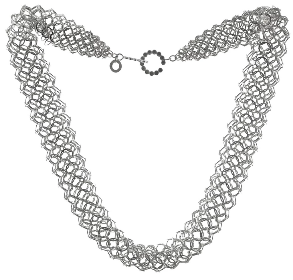 Joanne Thompson - Jarvie Oxidized Chain Maille Necklace