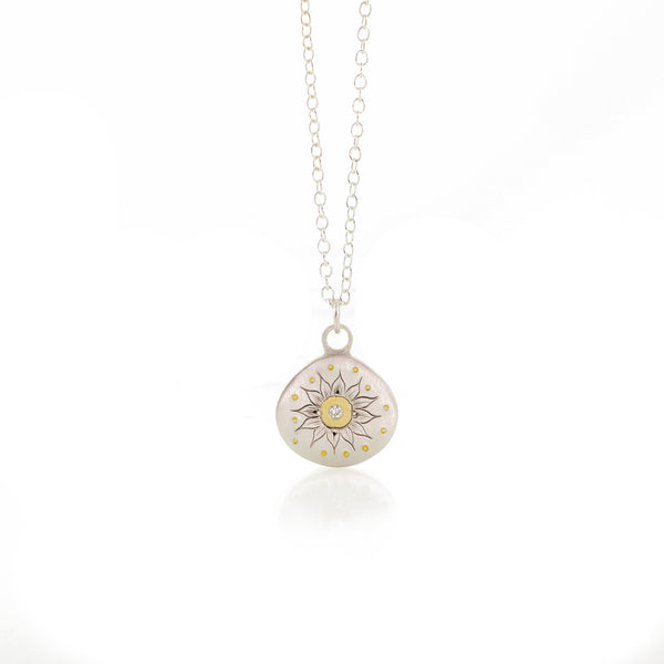 Adel Chefridi - Soleil Charm Necklace with Diamond