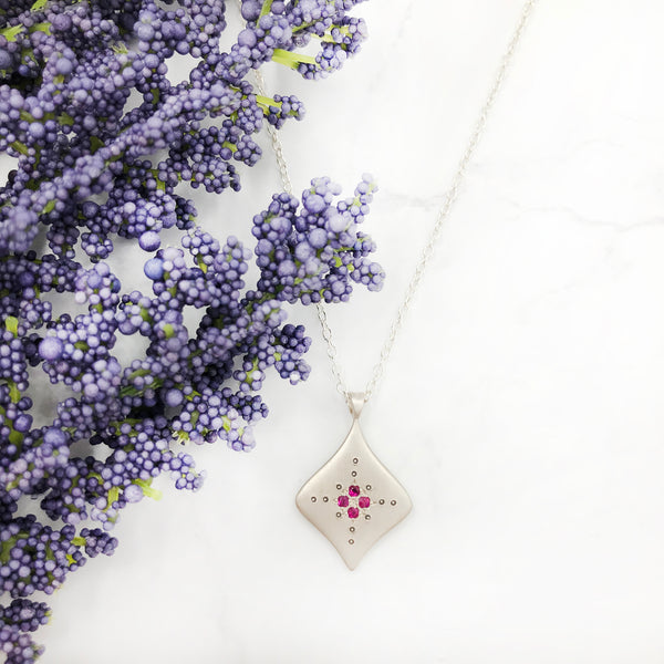 Adel Chefridi - Silver Night Ruby Pendant
