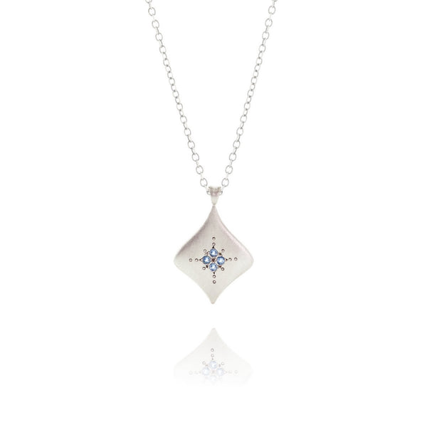 Adel Chefridi - Silver Nights Pendant with Aquamarine