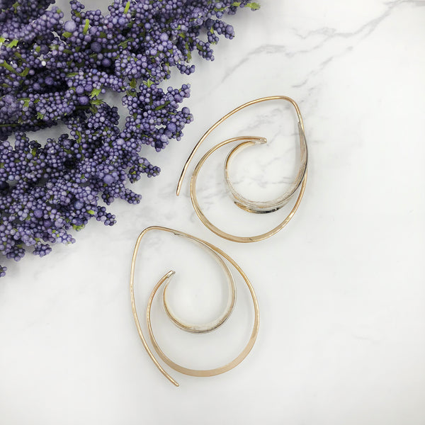 Deb Richardson - Mixed Metal Double Hoop Earrings