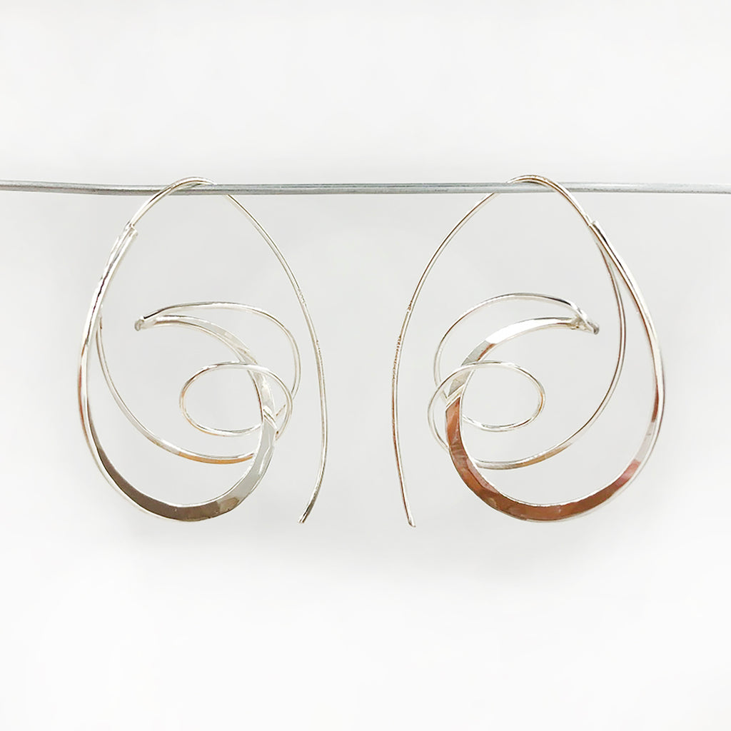 Deb Richardson - Sterling Elliptical Wrap Earrings