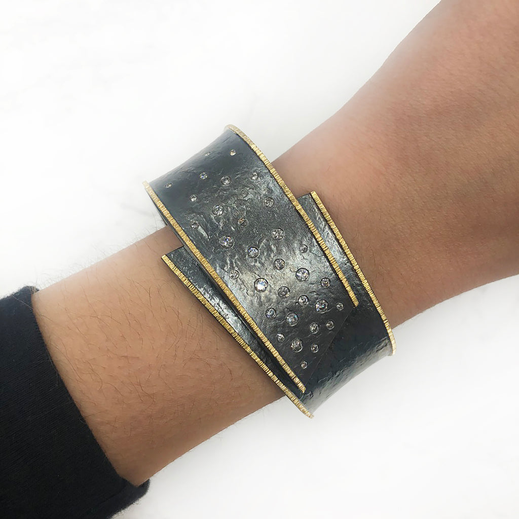Elizabeth Garvin - Diamond and Gold Bracelet
