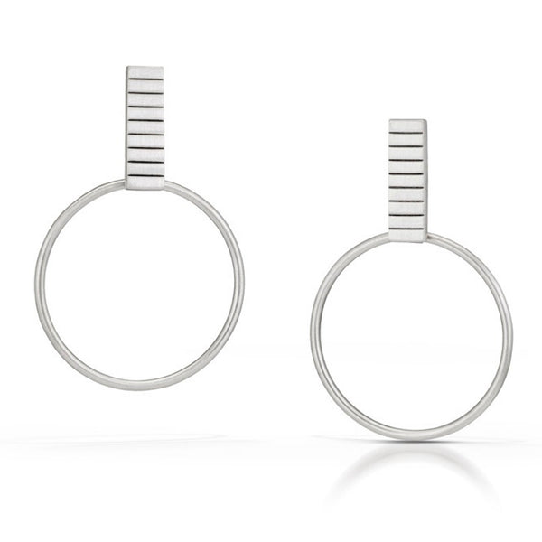 Emily Shaffer  Studio - Stacked Rectangle Hoops Small