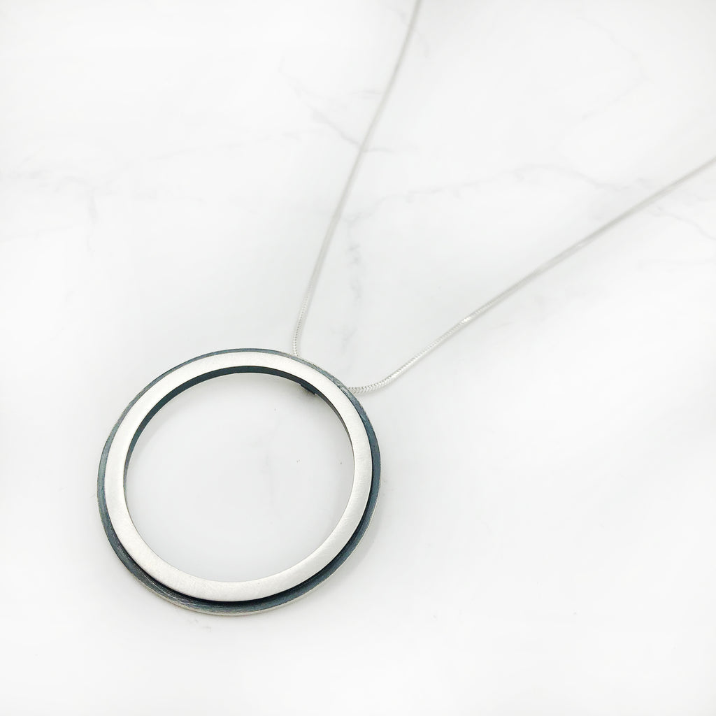 Emily Shaffer  Studio - Small Edge Circle Pendant