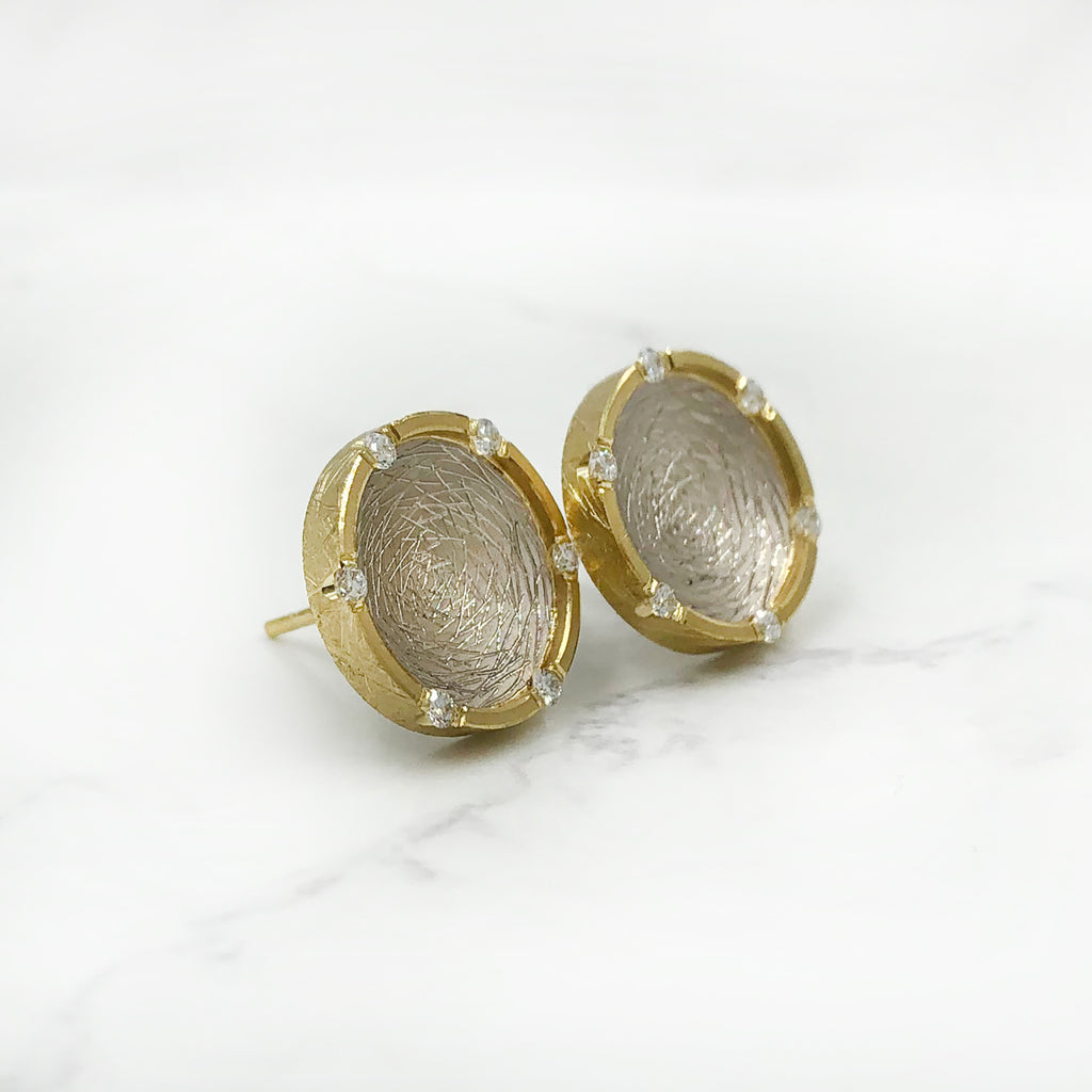 Geoffrey D Giles Jewelry - Diamond Disc Earrings