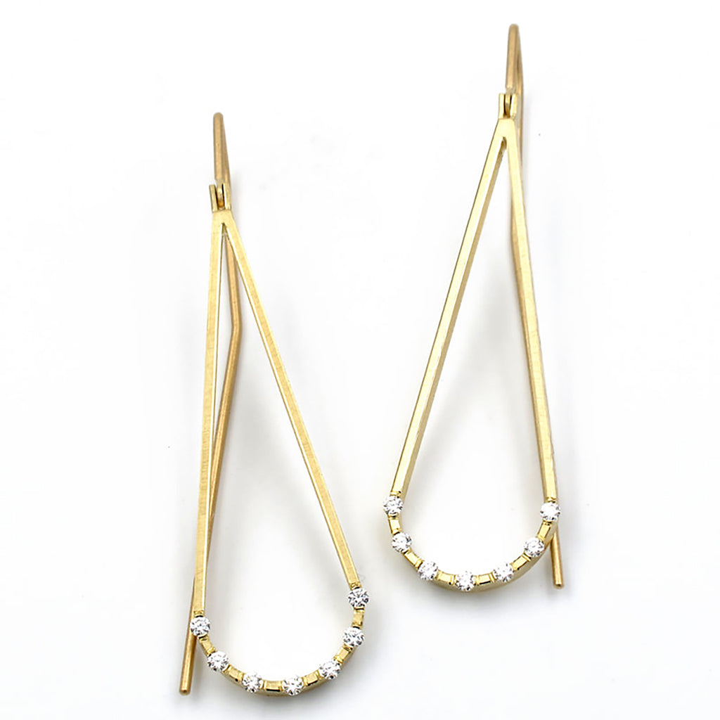 Geoffrey D Giles Jewelry - Diamond Teardrop Earrings