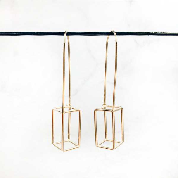 Jera Lodge - Lantern Rectangular Earrings