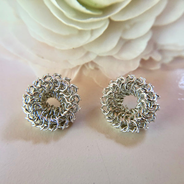 Joanne Thompson - Adair Chain Maille Stud Earrings