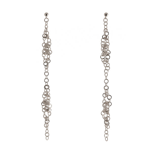 Joanne Thompson - Darrow Long Chain Maille Earrings
