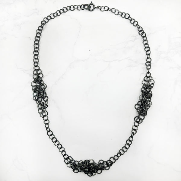 Joanne Thompson - Oxidized Darrow Necklace