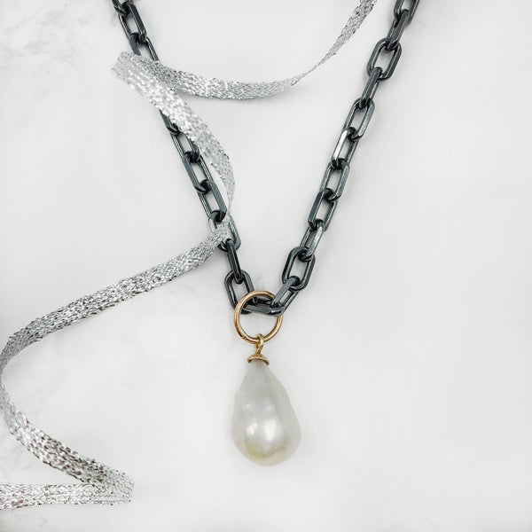 Kirsten Ball - White Pearl Necklace