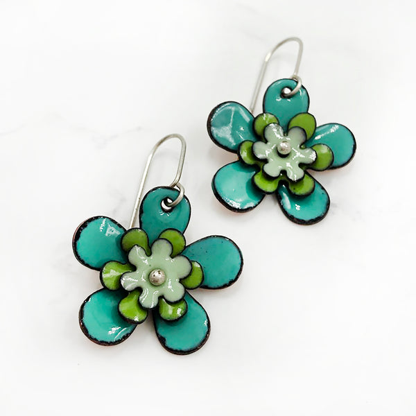 Kirsten Denbow - Big Flower Earrings