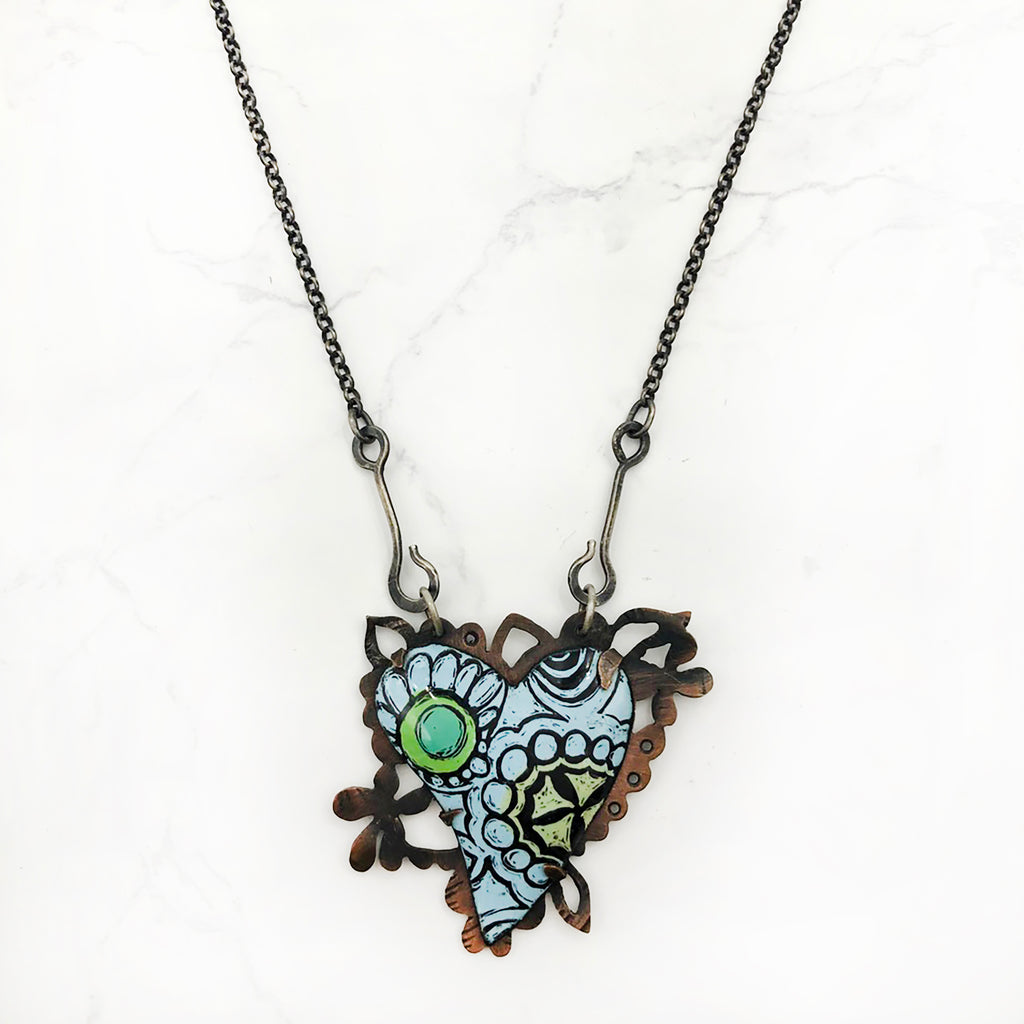 Kirsten Denbow - Blue for Love Necklace