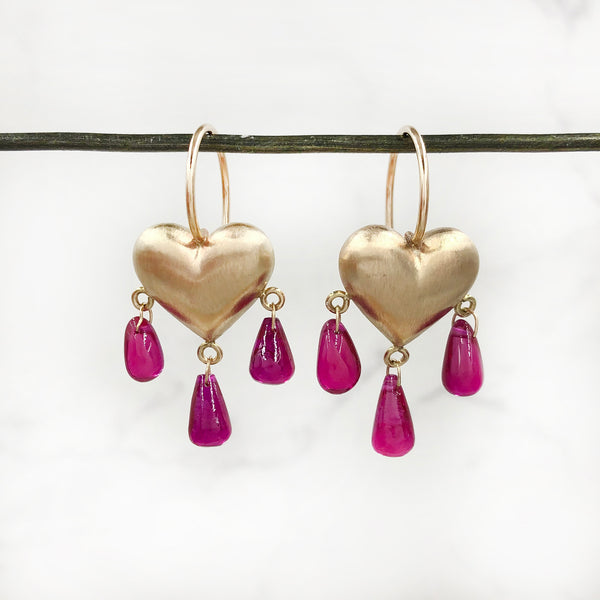 Rachel Quinn - Bleeding Heart Earrings
