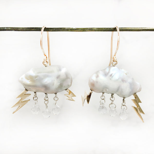 Rachel Quinn - Storm Cloud Earrings