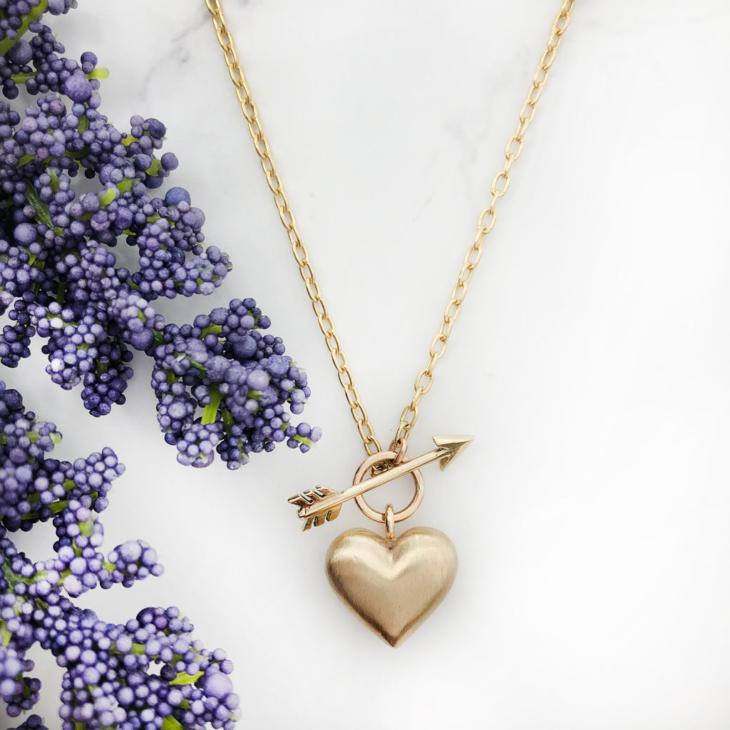 Rachel Quinn - Gold Mini Cupid's Heart Pendant