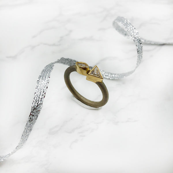 Stephen Dixon - Trillion and Marquise Diamond ring
