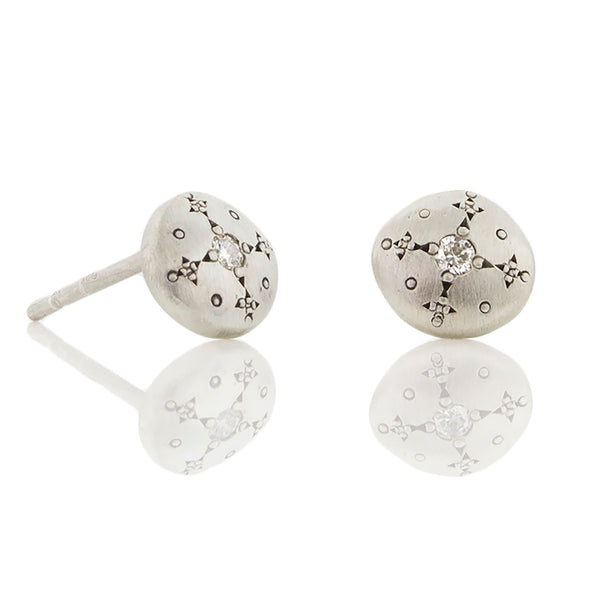 Adel Chefridi - Silver Lights Diamonds Studs