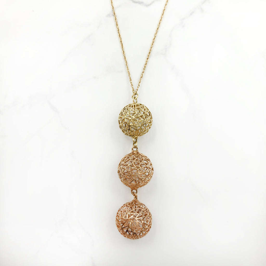 Baiyang Qiu - Three Sphere Necklace