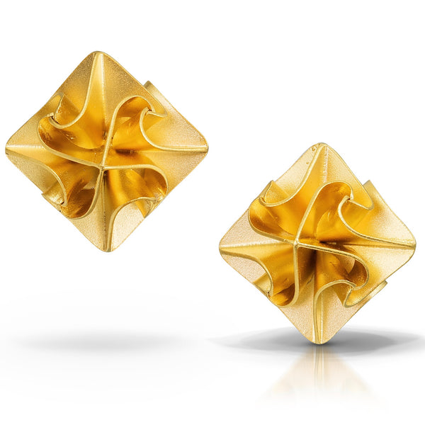 Chihiro Makio - Large Stardust Post Earrings