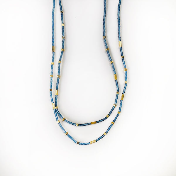 Debbie Fisher - Grey Seed Beads with Vermeil Beads
