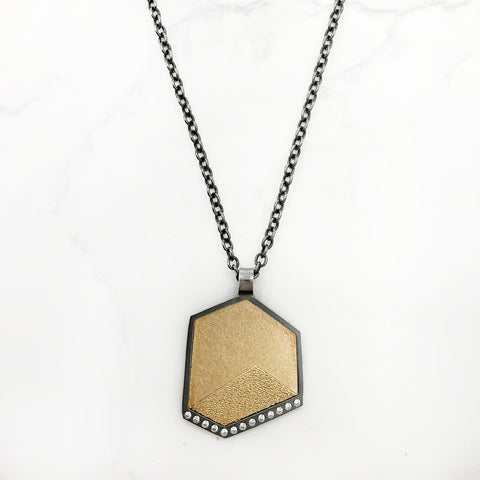 Elizabeth Garvin - Gem Link Small Hexagon Pendant