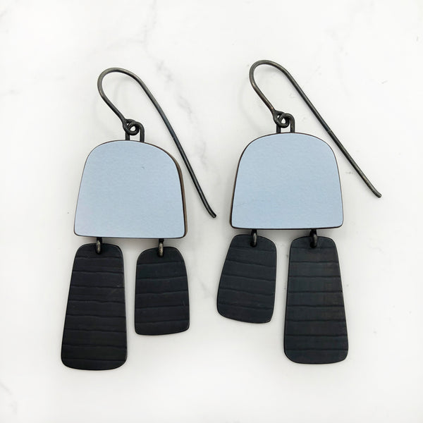 Emily Kidson - Blue Two Part Stripe Earrings