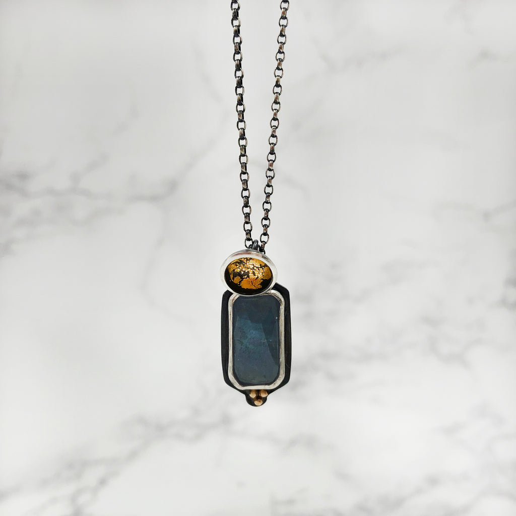 Fulcrum Jewelry Studio - Acacia Pendant With Sapphire