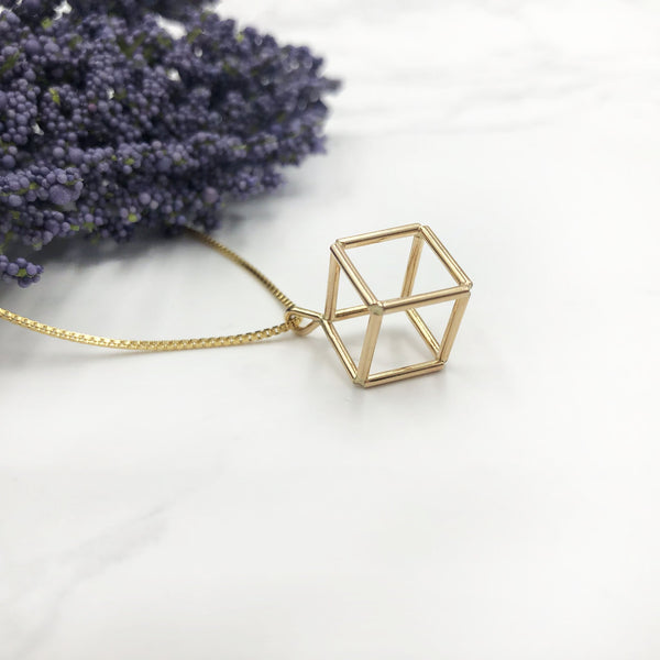 Jera Lodge - Gold Filled Cubic Pendant