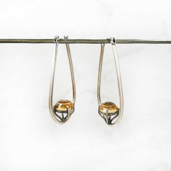 Joanna Gollberg - Hoops With Citrine