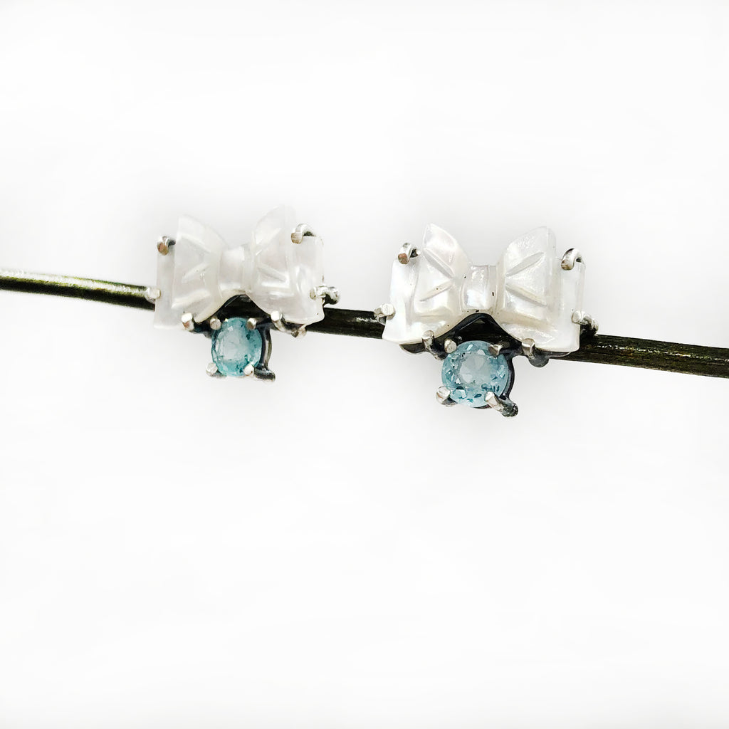 Joanna Gollberg - Bow and Apatite Earrings