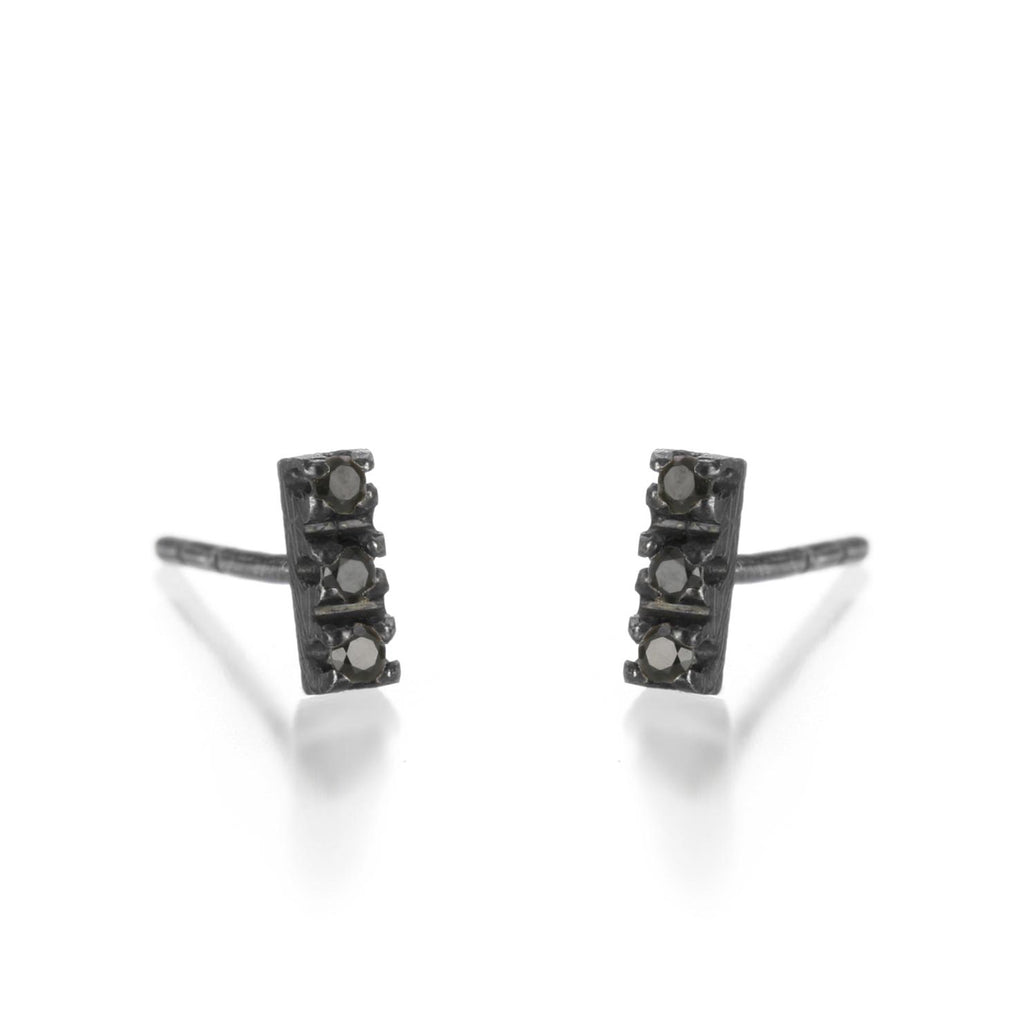 Justin Brown - Oxidized Black Spinel Earrings