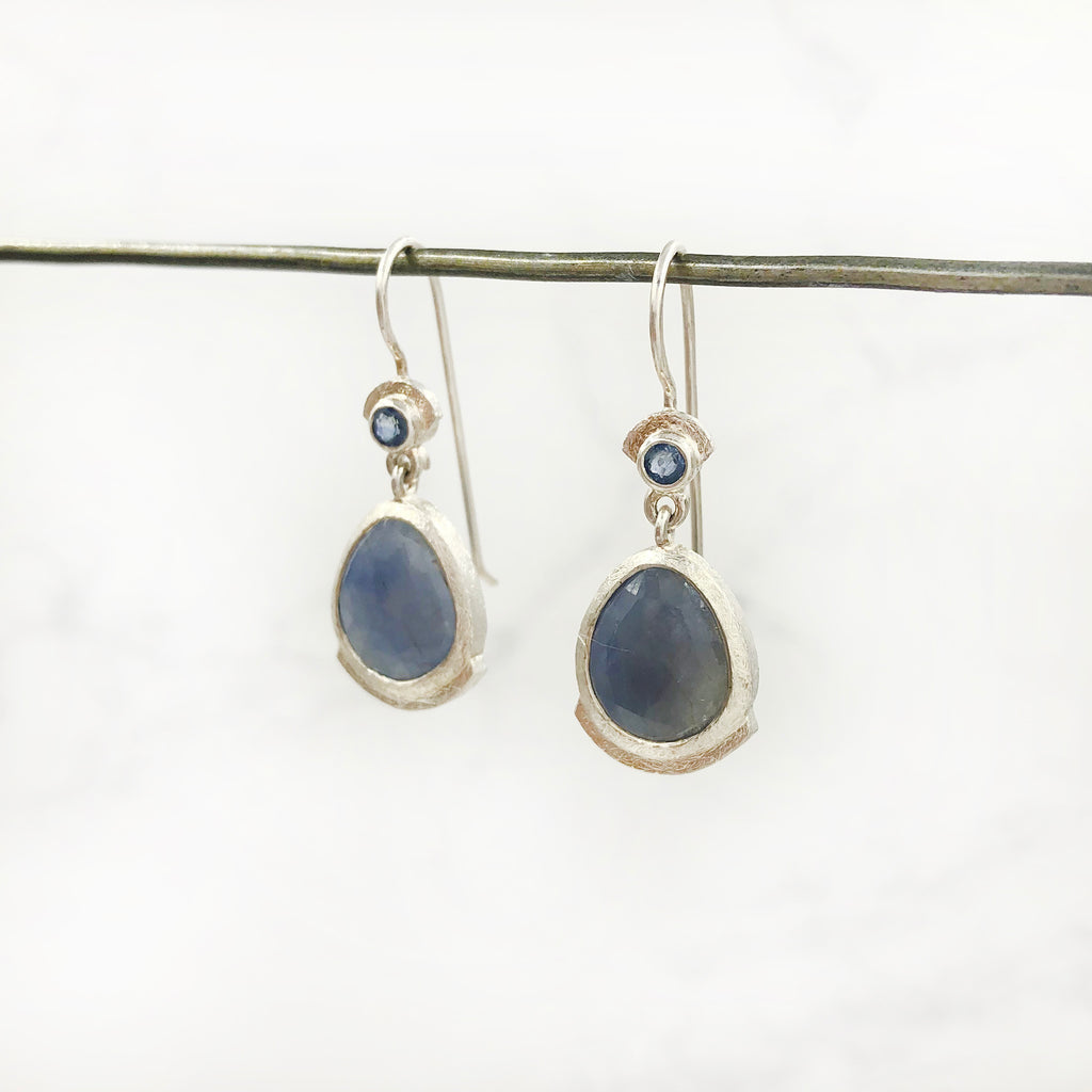 Justin Brown - Rose Cut Sapphire Earrings
