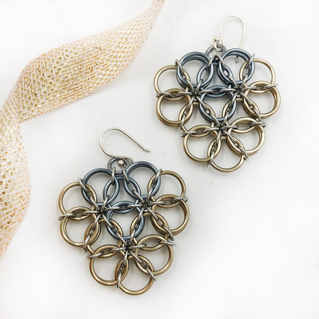 Karen Karon - Borealis Shield Earrings