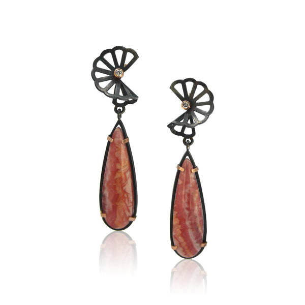 Karin Jacobson - Rhodochrosite Earrings